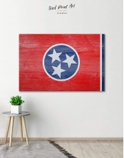 Flag of Tennessee State Canvas Wall Art