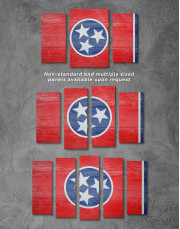 Flag of Tennessee State Canvas Wall Art - Image 2