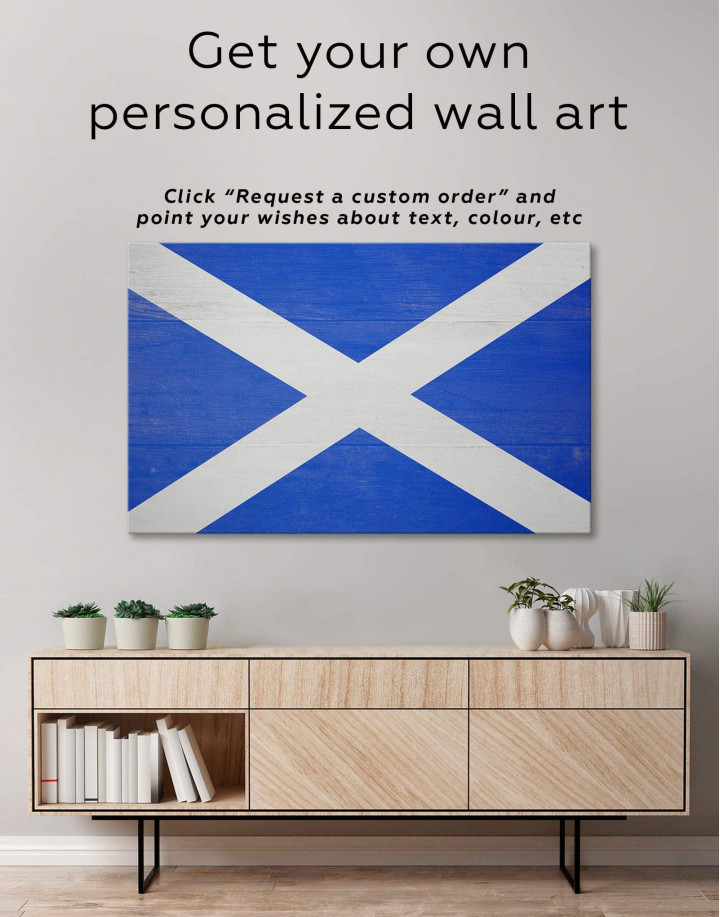 Scotland Flag Canvas Wall Art - Image 1