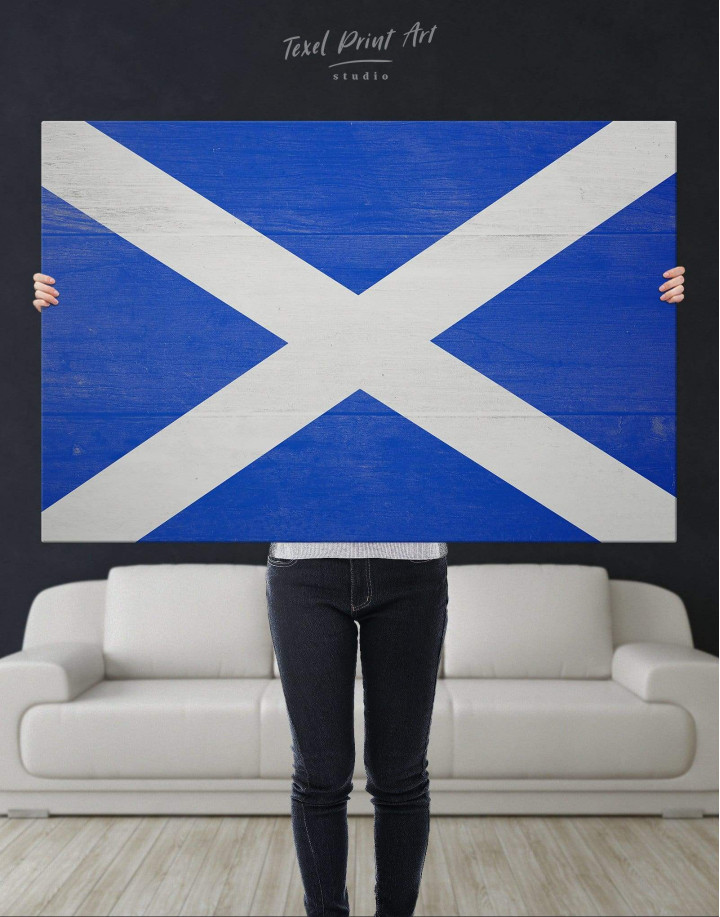 Scotland Flag Canvas Wall Art - Image 4