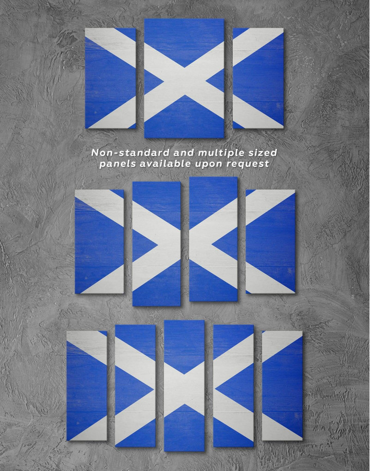 Scotland Flag Canvas Wall Art - Image 2