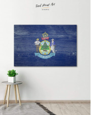 Flag of Maine Patriotic Canvas Wall Art