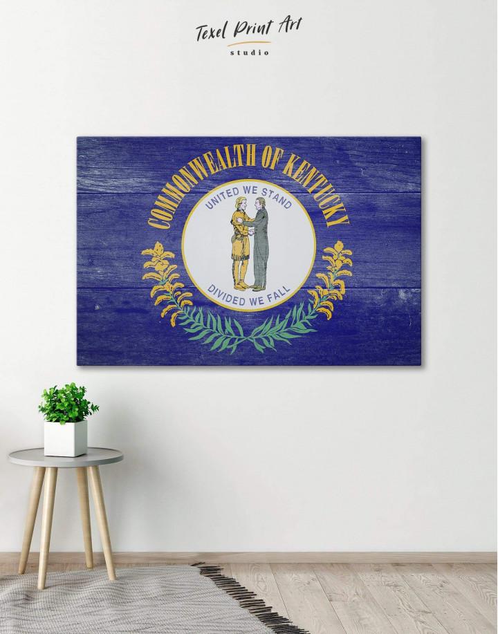 Kentucky State Flag Canvas Wall Art - Image 0