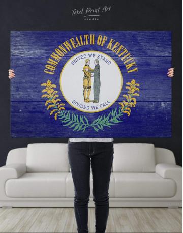 Kentucky State Flag Canvas Wall Art - image 4