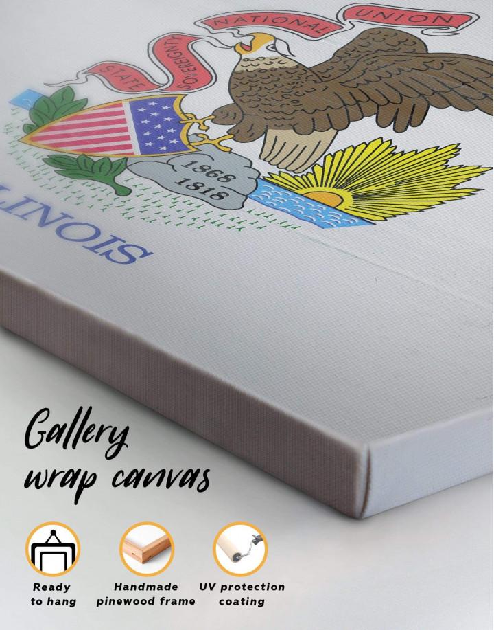 Flag Of Illinois Canvas Wall Art - Image 5