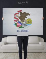 Flag Of Illinois Canvas Wall Art - Image 4