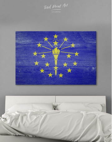 Flag Of Indiana Canvas Wall Art