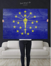 Flag Of Indiana Canvas Wall Art - Image 3