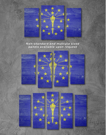 Flag Of Indiana Canvas Wall Art - image 1