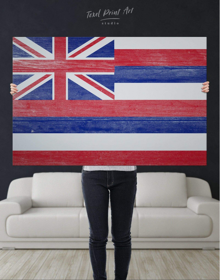 Hawaii Flag Canvas Wall Art - Image 4