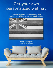 Hawaii Flag Canvas Wall Art - Image 1