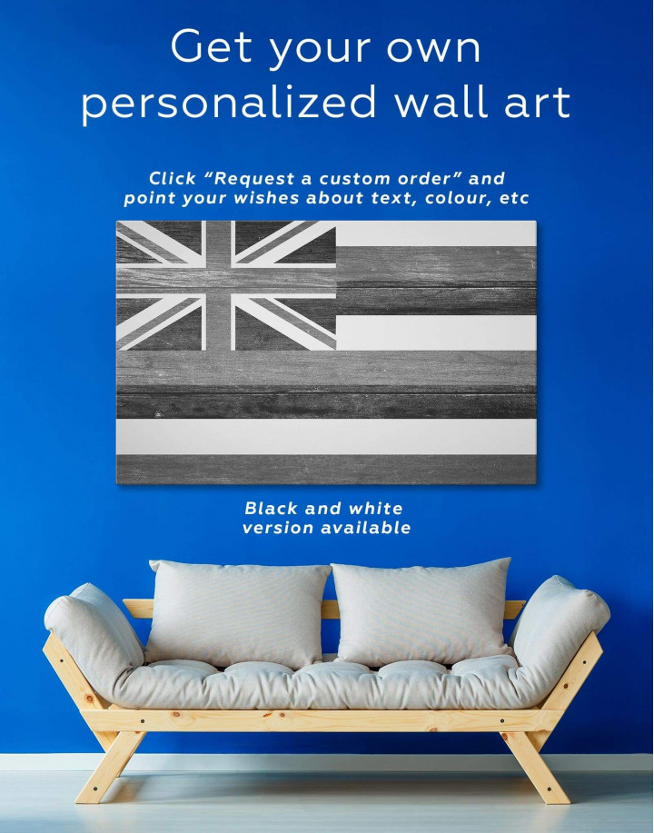 Hawaii Flag Canvas Wall Art - Image 1