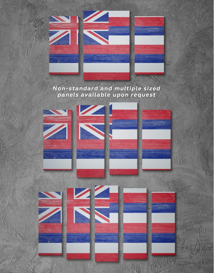 Hawaii Flag Canvas Wall Art - Image 2