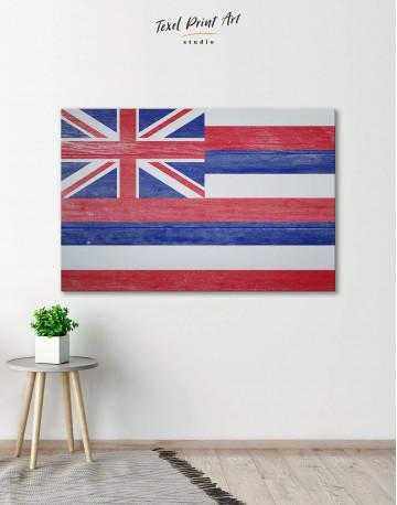 Hawaii Flag Canvas Wall Art