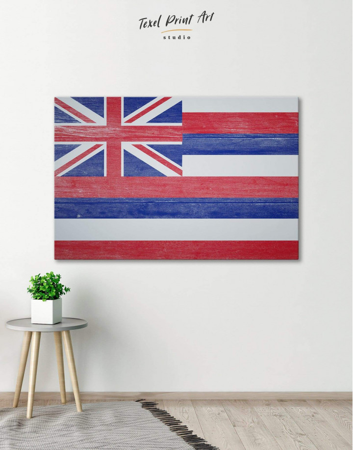 Hawaii Flag Canvas Wall Art - Image 0