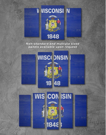 Flag Of Wisconsin Canvas Wall Art - image 2