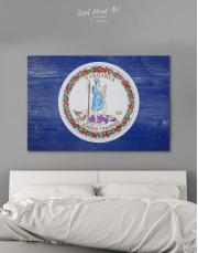 Flag Of Virginia Canvas Wall Art
