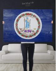 Flag Of Virginia Canvas Wall Art - Image 4
