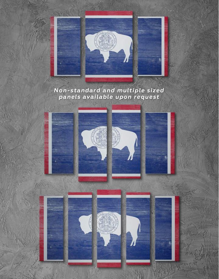 Wyoming Flag Canvas Wall Art - Image 2