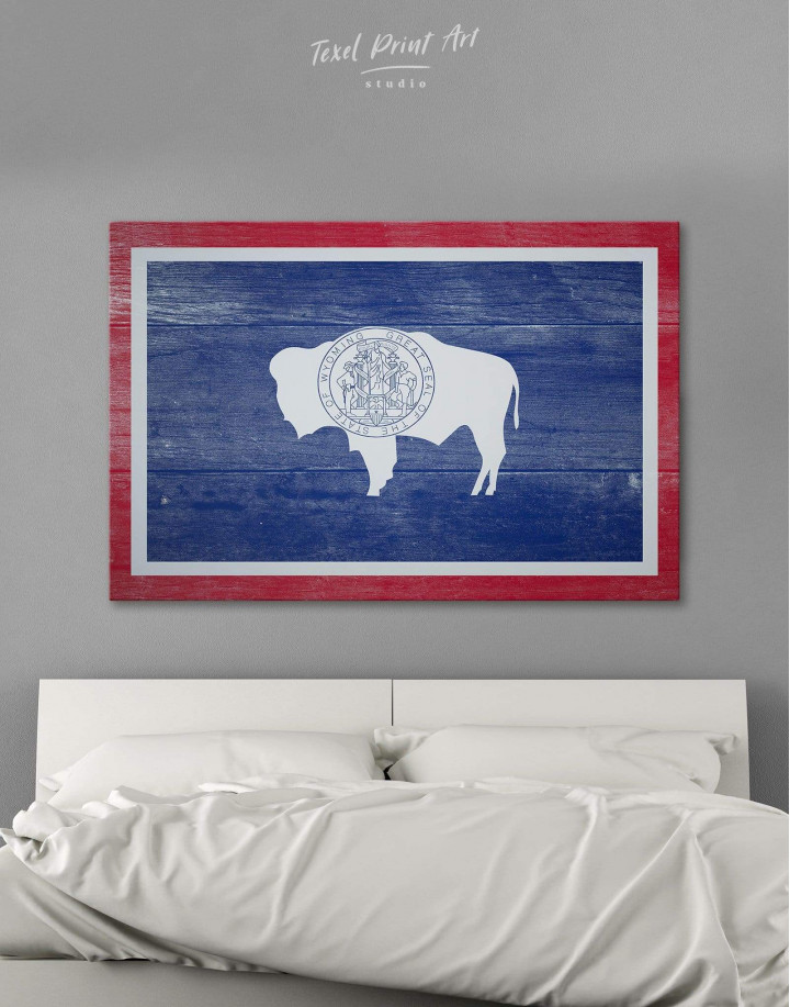 Wyoming Flag Canvas Wall Art