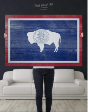 Wyoming Flag Canvas Wall Art - Image 4