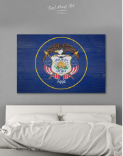 Utah Flag Canvas Wall Art