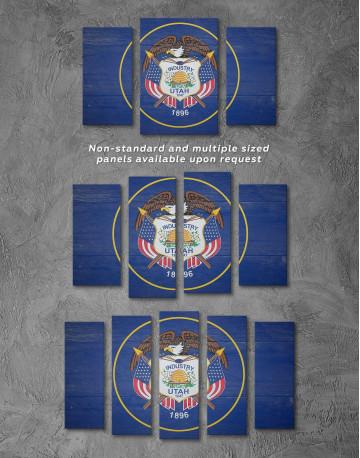 Utah Flag Canvas Wall Art - image 2