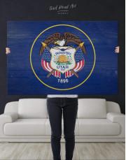Utah Flag Canvas Wall Art - Image 4