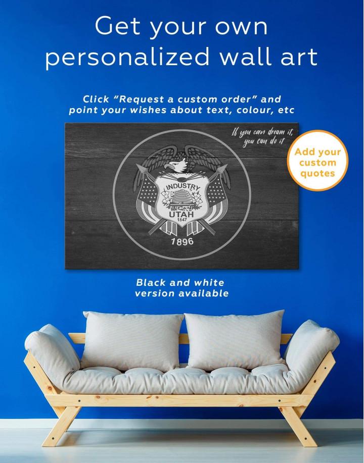 Utah Flag Canvas Wall Art - Image 1
