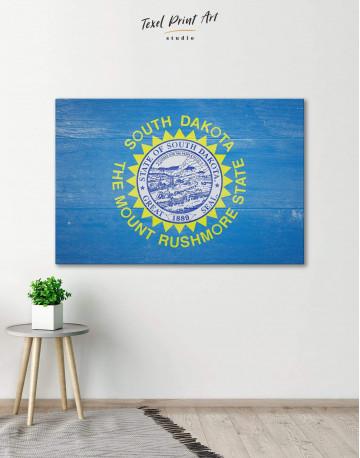 South Dakota Flag Patriotic Canvas Wall Art