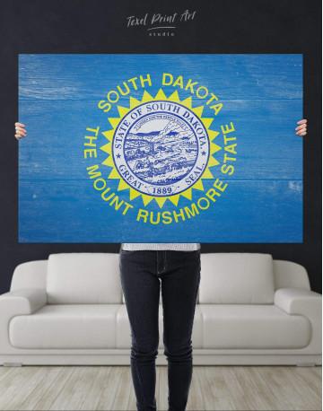 South Dakota Flag Patriotic Canvas Wall Art - image 4