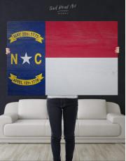 Flag of North Carolina Canvas Wall Art - Image 4