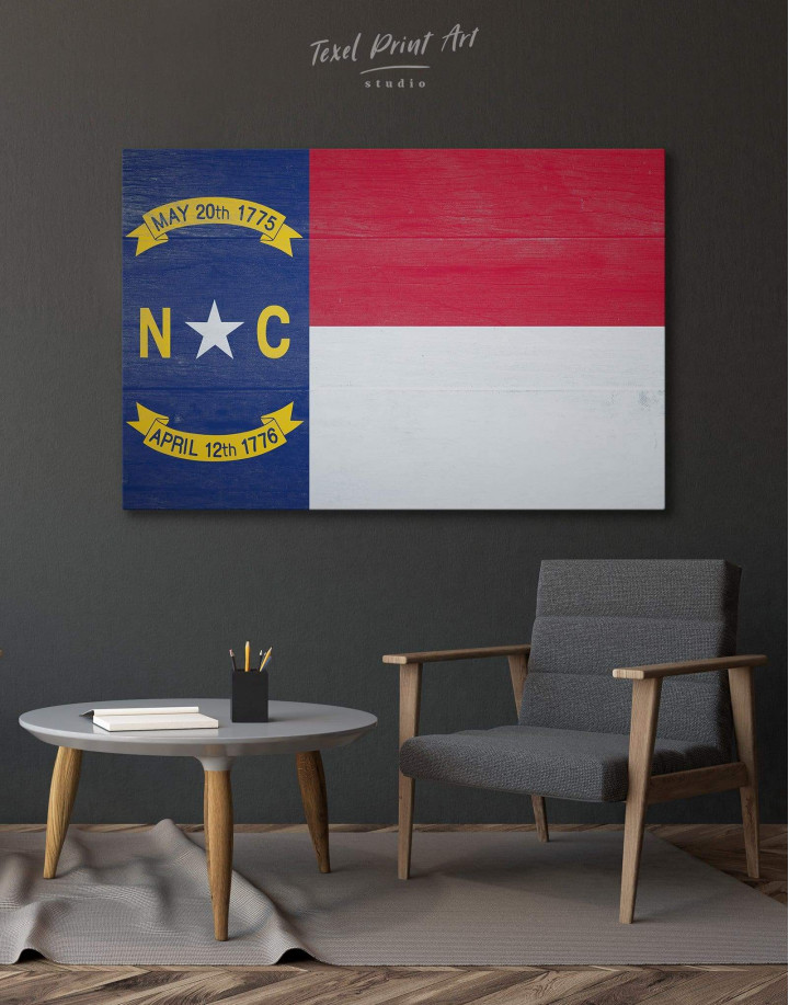 Flag of North Carolina Canvas Wall Art - Image 0