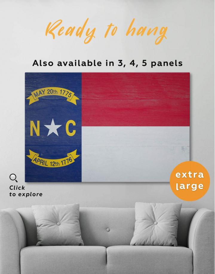Flag of North Carolina Canvas Wall Art - Image 5