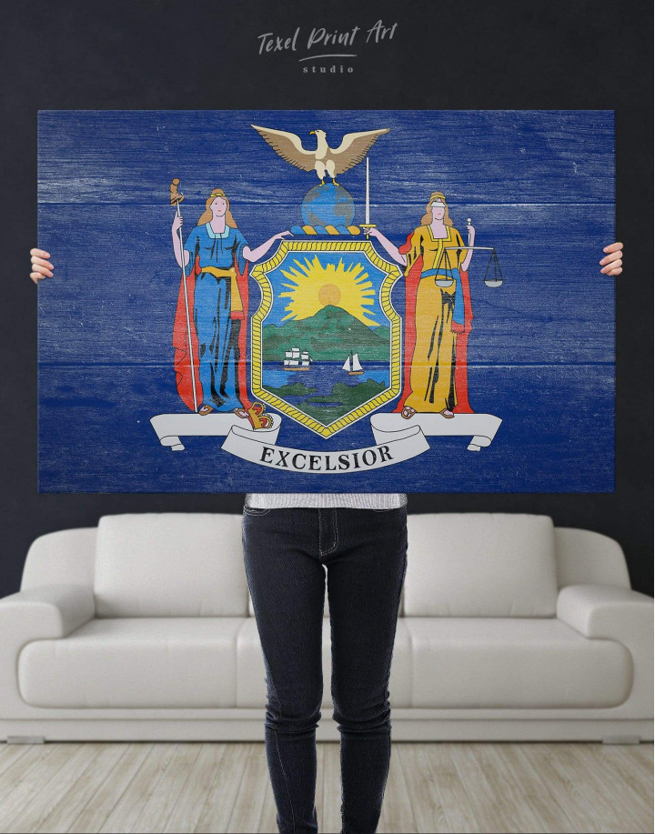 New York State Flag Canvas Wall Art - Image 4