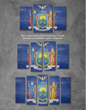 New York State Flag Canvas Wall Art - image 2
