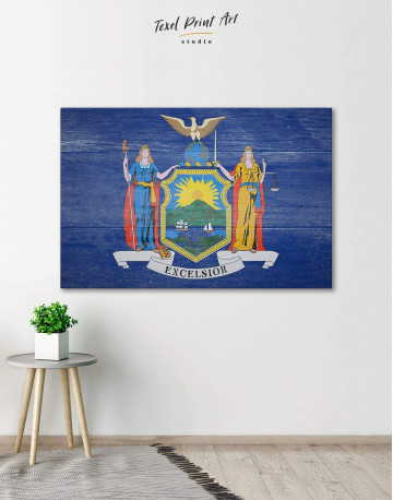 New York State Flag Canvas Wall Art