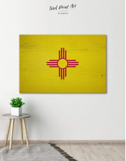 Flag of New Mexico Canvas Wall Art