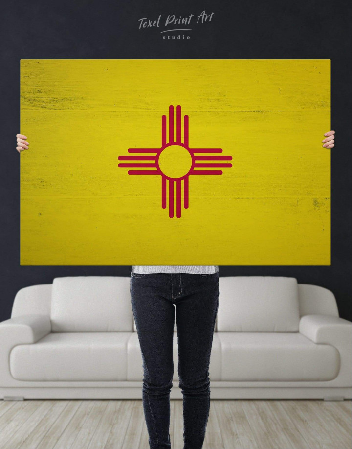 Flag of New Mexico Canvas Wall Art - Image 4