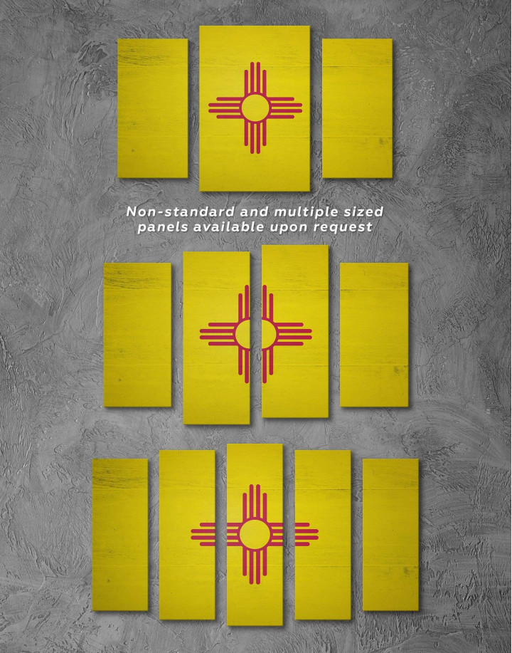 Flag of New Mexico Canvas Wall Art - Image 2