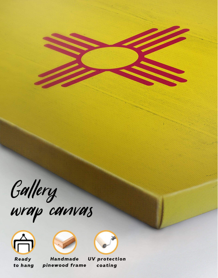 Flag of New Mexico Canvas Wall Art - Image 5