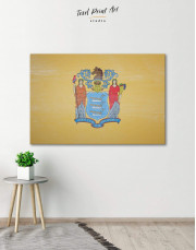 Flag of New Jersey Canvas Wall Art
