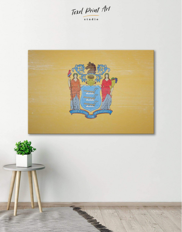 Flag of New Jersey Canvas Wall Art - Image 0
