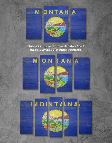 Montana Flag Canvas Wall Art - image 2