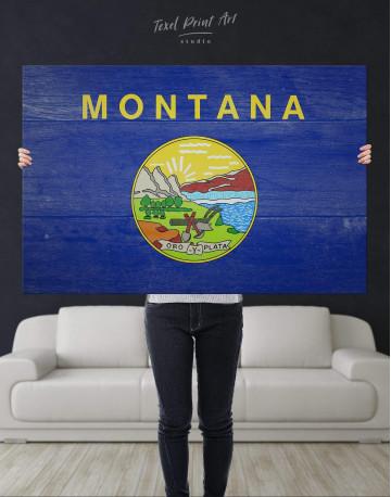Montana Flag Canvas Wall Art - image 4