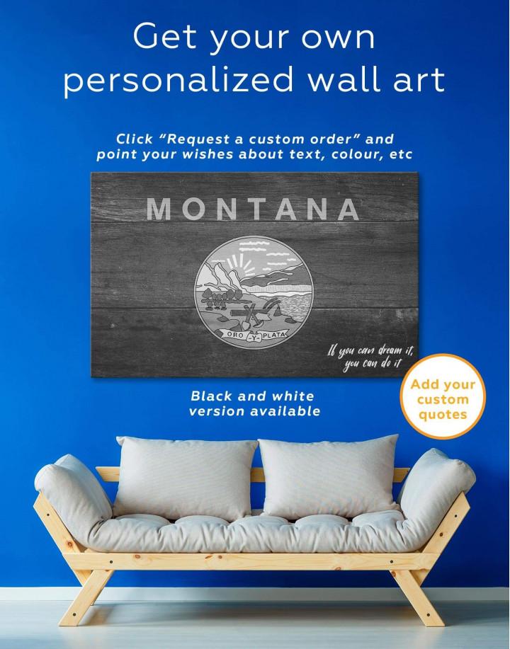 Montana Flag Canvas Wall Art - Image 1