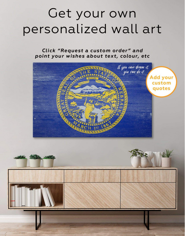 Nebraska Flag Canvas Wall Art - Image 1