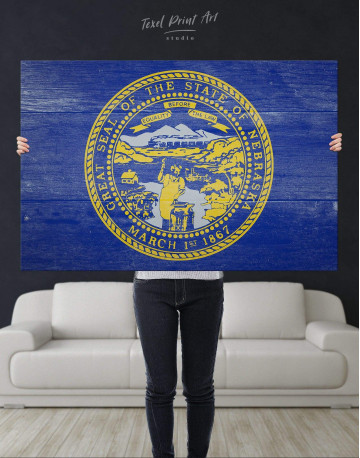 Nebraska Flag Canvas Wall Art - image 4