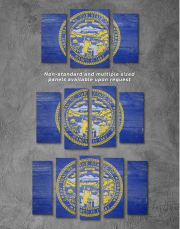 Nebraska Flag Canvas Wall Art - image 2