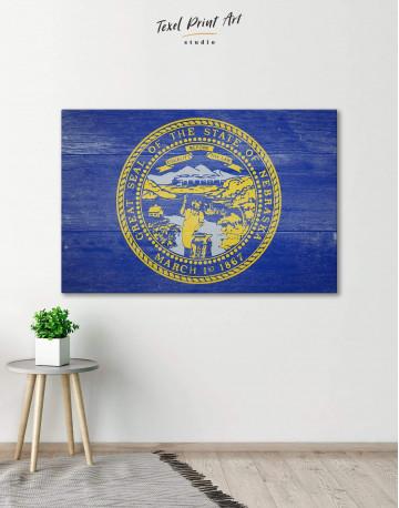 Nebraska Flag Canvas Wall Art